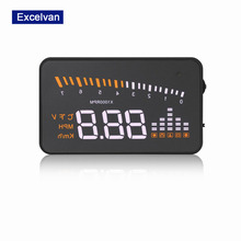 "Ship from RU Excelvan 3"" Car X5 HUD Head Up Display for Auto OBD2 II Interface Projector Warning Windshield Alarm System"