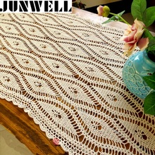 100% Cotton handcraft crochet Tablecloths Shabby Chic Vintage Crocheted Tablecloth Handmade Sofa Cover Cotton Lace(China)