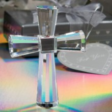 FREE SHIPPING(12pcs/Lot)+Religious Party Supplies High Quality Choice Crystal Collection K9-Crystal Cross Figurines Favors