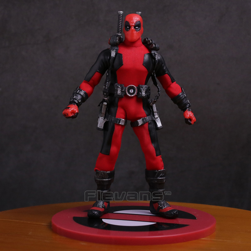 MEZCO Deadpool 1/12 Scale PVC Action Figure Collectible Model Toy (real clothes) 16.5cm<br>