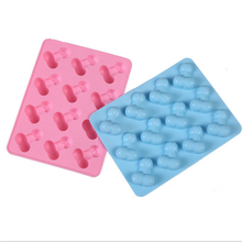 Buy 1 PCS Silicone Dick Ice Cube Penis moldes silicona Chocolate Soap Tray Cake Mold Mould Bakeware