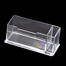5pcs (1 Pcs Clear Plastic Business Card Holder Stand Display with Pen Stand 12cm x 5cm x 4cm)(China)