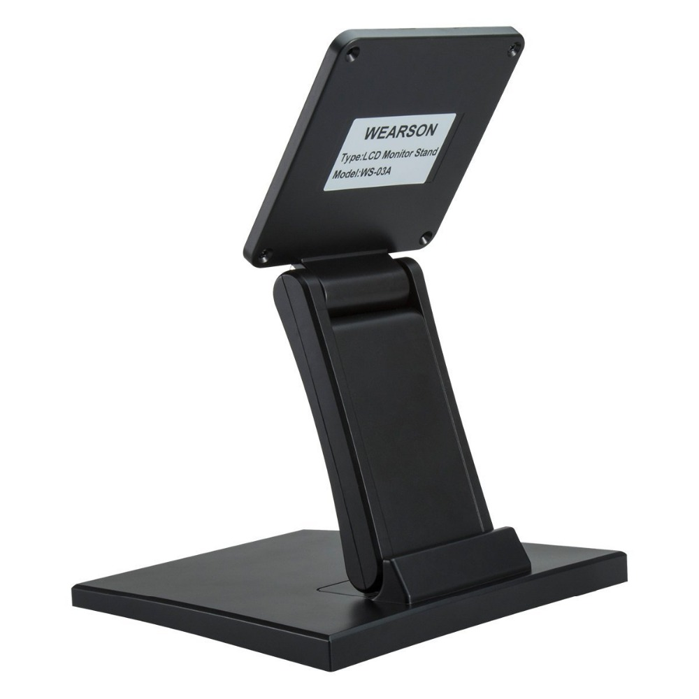 Adjustable LCD Monitor Stand Mount Folding VESA Monitor Desk Stand With VESA Hole 75x75mm 100x100mm (7)