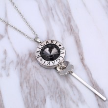 Elegant Austrian Crystal Key Necklaces & Pendants Gold Color Silver Color Long Clavicle Chain Necklaces Women Gift Collares