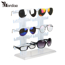 2017 New 1pcs 5 Layers Simple Convenient Plastic Glasses Eyeglasses Sunglasses Show Stand Holder Fashion Frame Display Rack(China)