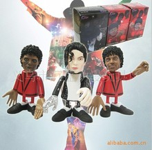 3pcs/lot 10cm Q style Michael Jackson Action Figure doll toys best Christmas gift and can Movable joint
