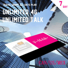 Super Card 7 Days Plan T-mobile MOBILE PHONE SIM Card With Unlimited TALK TEXT AND UNLIMITED 4G LTE DATA Travel Gift CAN/US/MEX