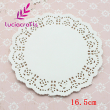 100pcs/lot 16.5cm Paper Doilies Coasters / Placemat Table Decoration Baking Mat For Cake Cookie Baking Liner 078007020