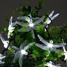 30 LED Solar Christmas Lights 19.7ft 5m 8 Modes Solar Dragonfly Fairy String Lights For Halloween Night Lights Decoration(China)