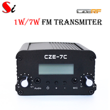 CZE-7C 1W 7W stereo PLL FM transmitter broadcast radio station-TNC port(Hong Kong,China)