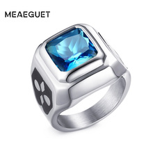 Meaeguet bright stone wedding rings for women men fashion rings party rings for women jewelry