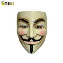 New Hot Halloween Party Masks V for Vendetta Mask Anonymous Guy Fawkes Fancy Dress Adult Costume Accessory Party Cosplay Mask