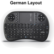 Special German language Layout I8 Mini Wireless Touchpad Keyboard for Set Tv box tablet mini pc