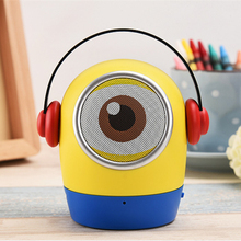 Cartoon Minions Portable Bluetooth Speaker Wireless Handsfree Subwoofer Stereo Speakers with Mic Support TF card for Smart Phone(China)