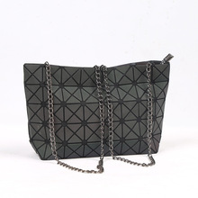 Japanese Brands Women Fashion BaoBao Bag Geometric Splicing Bag Shoulder Bags Plaid Laser Shopping Bag Handbag Bao Bao(China)