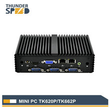 Fanless Mini PC Intel Celeron J1800/J1900 4 COM Port Serial Port Dual LAN PFsense VPN Router Windows Linux  Internal WIFI