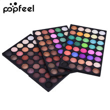 Popfeel 120 Colors Nude Eyeshadow Palette Professional Brand Eye Makeup Glitter Eye Shadow Kit Matte Natural Eye Shadow Palette(China)