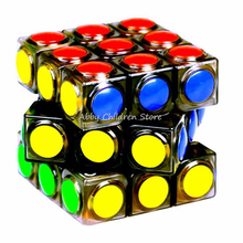 Magic Cube Transparent 3x3x3 Speed Puzzle Cube Game Dot Shape Cubos Magicos Professional Puzzle Game Educational Toys