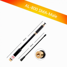 AL-800 SMA-Male Telescopic Antenna dual band for walkie talkie BAOFENG UV-3R TONFA 985 TYT TH-F5 Yaesu VX-3R/6R/7R two-way radio(China)