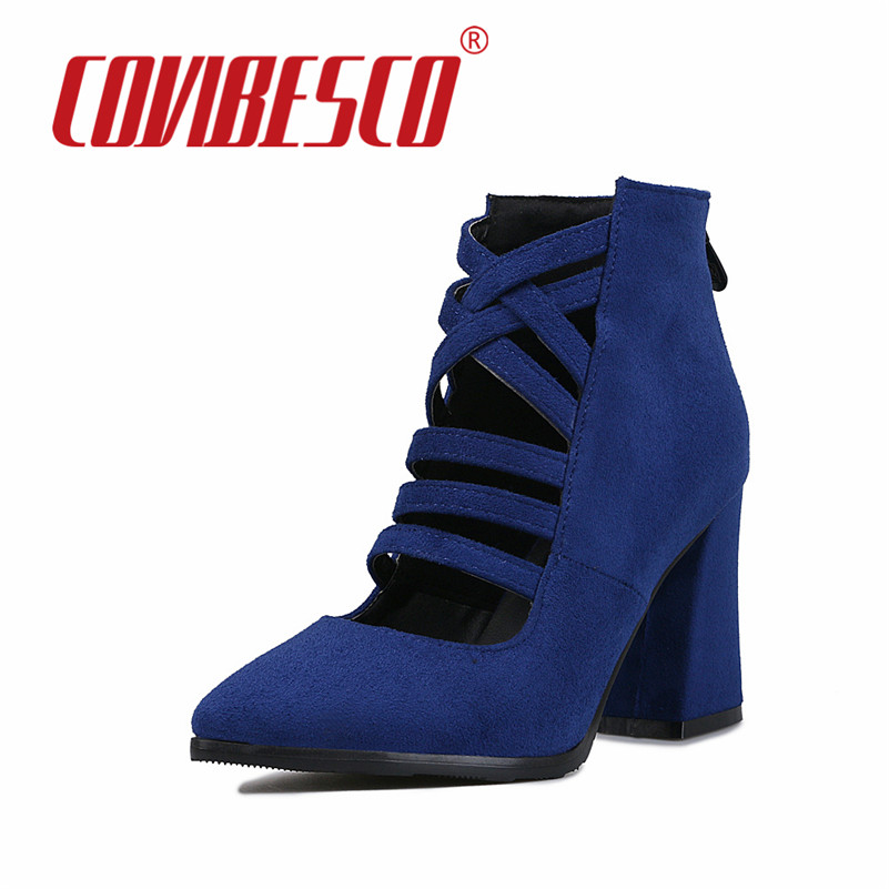 Spring Fashion Pointed Toe Stilettos Women Pumps High Heels Shoes Black Red Blue High-heeled Female Shoes Prom Pumps Plus Size<br><br>Aliexpress