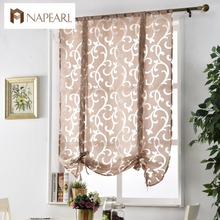 Kitchen short curtains window treatments curtain kitchen roman blinds jacquard curtains luxury European style decorative curtain(China)