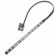 Mising Neon Adhensive Waterproof 4 Colors 4 Pin 5050 SMD 12 LED Strip Light 12V DC Dustproof Computer Case Flexible Lamp(China)