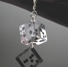 (DHL,UPS,Fedex)FREE SHIPPING+50pcs/Lot+Las Vegas Themed Chrome Keychain with Crystal Dice In Gift Box Wedding Souvenir For Guest(China)