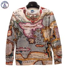 2017 Mr.1991INC New Fashion Men/Women The world map Pullovers Funny 3d sweatshirts 3D printed Hoodies top SWT31