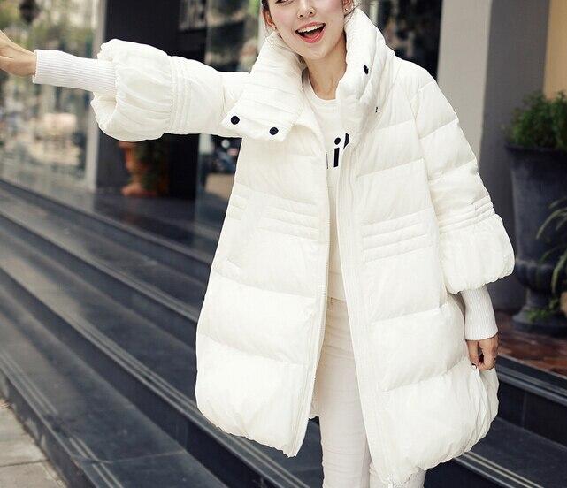 2017 Winter New Style Womens Medium-long Down Cotton-padded Jacket Thickening Cloak Outerwear A-line Wadded jacket Plus sizeÎäåæäà è àêñåññóàðû<br><br>