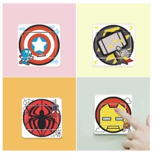 Big Promotion Wholesale Cartoon The Avengers Eco Friendly Home Decoration Switch Sticker Wall Stickers for Kids Room