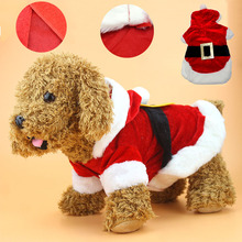 Christmas Dog Clothes Santa Costume Pet Dog Cat Clothes Chihuahua Coat Clothing Cute Pet Christmas Outfit for Small Dog Cat 26S1