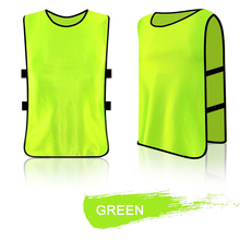 MAYITR Breathable Adult Kids Sleeveless Training Bibs Vest Team Football Soccer Jersey Rugby Sports Vests Clothes 7 Colors