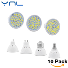 YNL 10Pcs/lot New Arrival SMD 2835 GU10 E27 E14 MR16 LED Lamp 220V 240V LED Spotlight 3w 5w 7w Light Bulbs LED for Chandelier