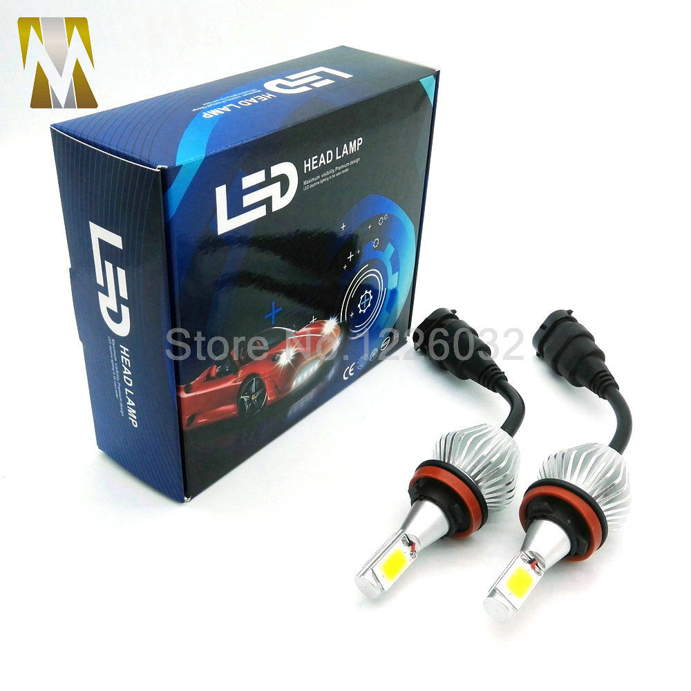 H8 H9 H11  LED Headlight Conversion Kit 30W Headlamp White Lamp HID Xenon Kit 12v Bulb Lamp Car COB LED Chips H7 H1 H3 9005 9006<br><br>Aliexpress