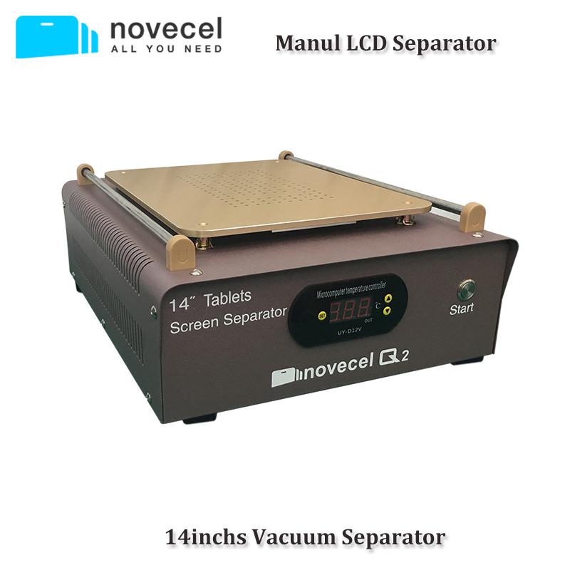 NOVECEL 110V/220V 14 inch LCD Separating Manually Operated Machine Two Build-in Pump Hot Plate to Separate Glass for Cellphone