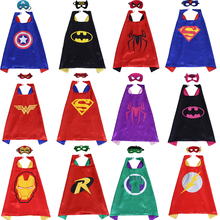 24pcs Super Hero Mask Batman Cape Superman The Flash Wonder Woman Cloak Kids Birthday Children's Day Gift Cosplay Party Supplies