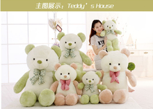 2017 New Hot 60cm /80cm /100cm Teddy Plush Toy Super Big Size Tie Bear Free Shipping MRR-Ted