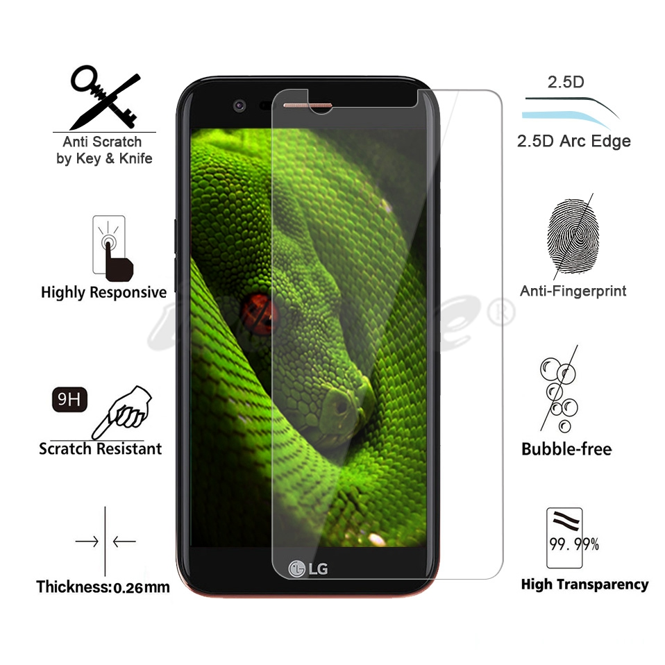 Icoque 9H 2.5D Tempered Glass for LG K10 2017 Glass Display M250 Phone Protective Film for LG K10 2017 Screen Protector Glasses (2)