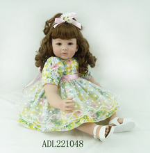 Buy Silicone Vinyl Reborn Baby Doll toys lifelike soft doll reborn babies lovely princess toys childs kids new style