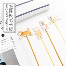 1PC/lot Kawaii dog design long tail bookmarks Magnetic novelty bookmark  (tt-2705)