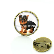 Art Picture baby dogs brooch jewelry lovely dog photo jewelry For Friends And Relatives Of The Best New Year Gift C 742