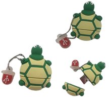 64GB! Wholesale USB Pen drive, PVC Plastic Cartoon Tortoise pendrive 4gb 8gb 16gb 32gb Turtle usb flash Memory Stick pen drive(China)