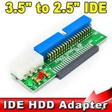 "T 44Pin 2.5 "" HDD to 3.5 "" IDE 40Pin Interface Hard Disk Drive HDD Converter Adapter for Laptop Desktop PC Computer"