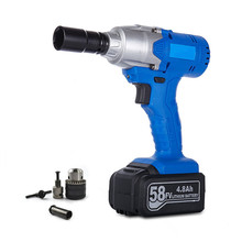 1/2'' 58v Rechargeable Electric wrench lithium battey 5.0Ah 280N.m  Impact Wrench Car Tyre Wheel Charging Wrench Cordless Drill