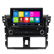 Free Shipping 8 inch Din Car Vehicle DVD GPS Player Head Unit for Toyota Yaris Vios 2014 2015 BT Radio RDS Ipod USB Free map