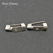 New Fashion 150pcs/lot Rhodium Plated Brooch Pin Clasp Fingings 15mm for Necklace CN-FZC003-69
