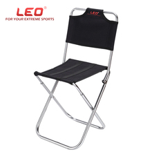 LEO Multifunctional Folding Stool Folding Chair For Fishing Chair With Backrest Stool Aluminum Alloy Fishing Stool  OC198