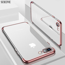 SIXEVE кремния Чистый мягкий чехол для iPhone X 10 XS Max XR iPhone 6S 6 s 6 Plus 6splus iPhone 7 8 7 Plus 8 плюс чехол телефона(China)