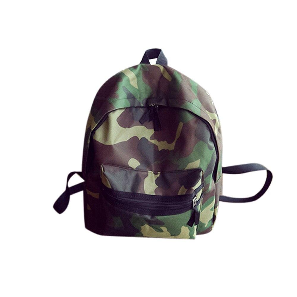 New Unisex Simple Canvas Camouflage School Bag Backpack Travel Satchel Rucksack Double Shoulder Bag Bolsa Mochila Free Shipping<br><br>Aliexpress