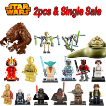Star Wars General Grievous Jabba Queen Padme Amidala C3PO Darth Vader Yoda Han Solo lepin mini dolls Building Blocks Kids Toys